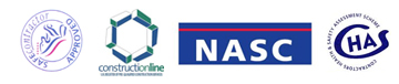 Kirk Scaffolding are members of ConstructionLine, NASC and CHAS